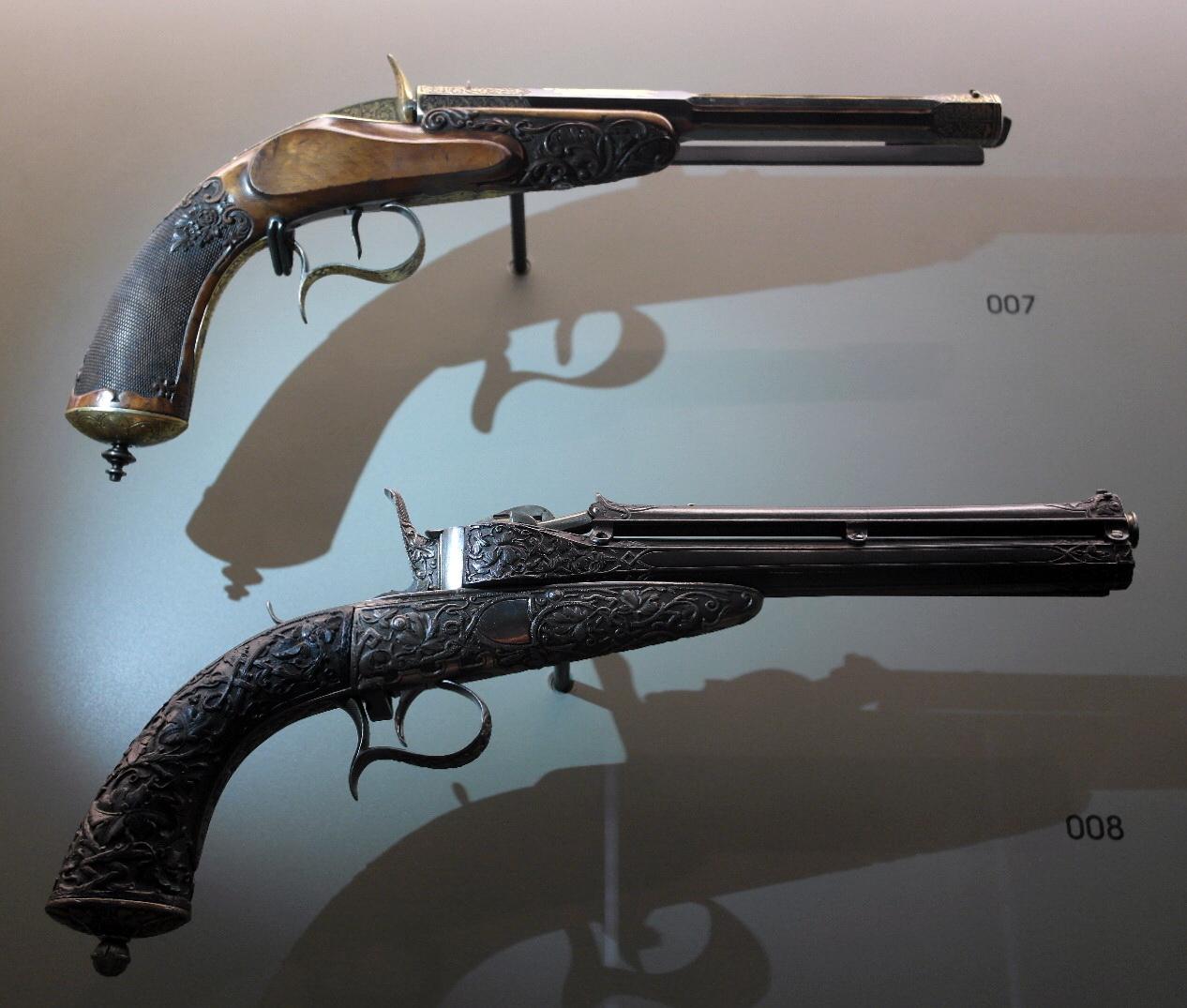File li ge mus e des armes grand curtius pistolets de for Pistolet de salon