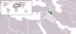 Location of Iraqi Kurdistan (dark green) within Iraq
