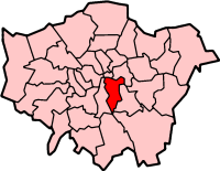 Southwark London, map
