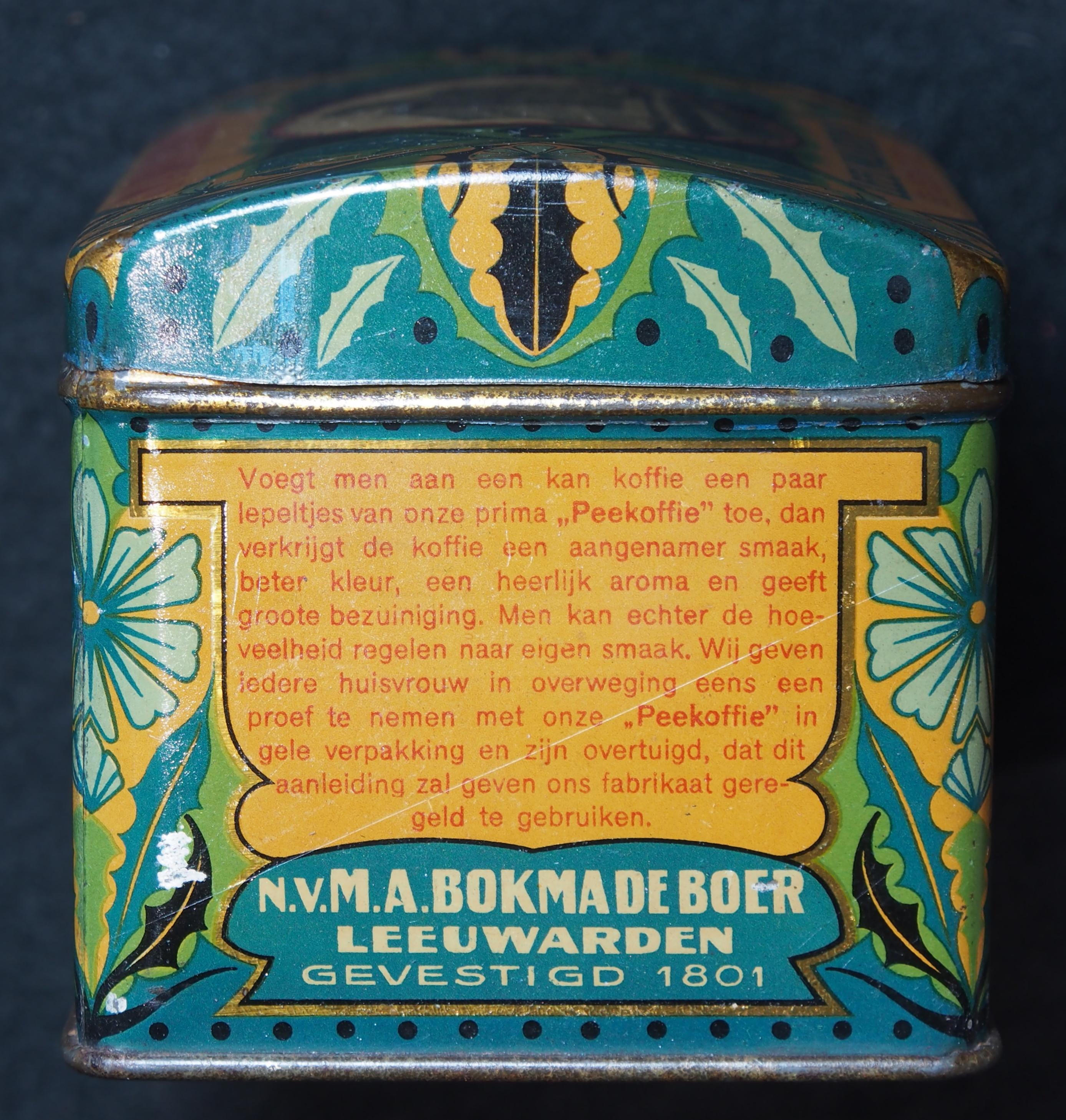 Filema Bokma De Boer Peekoffie Blik Foto 3jpg
