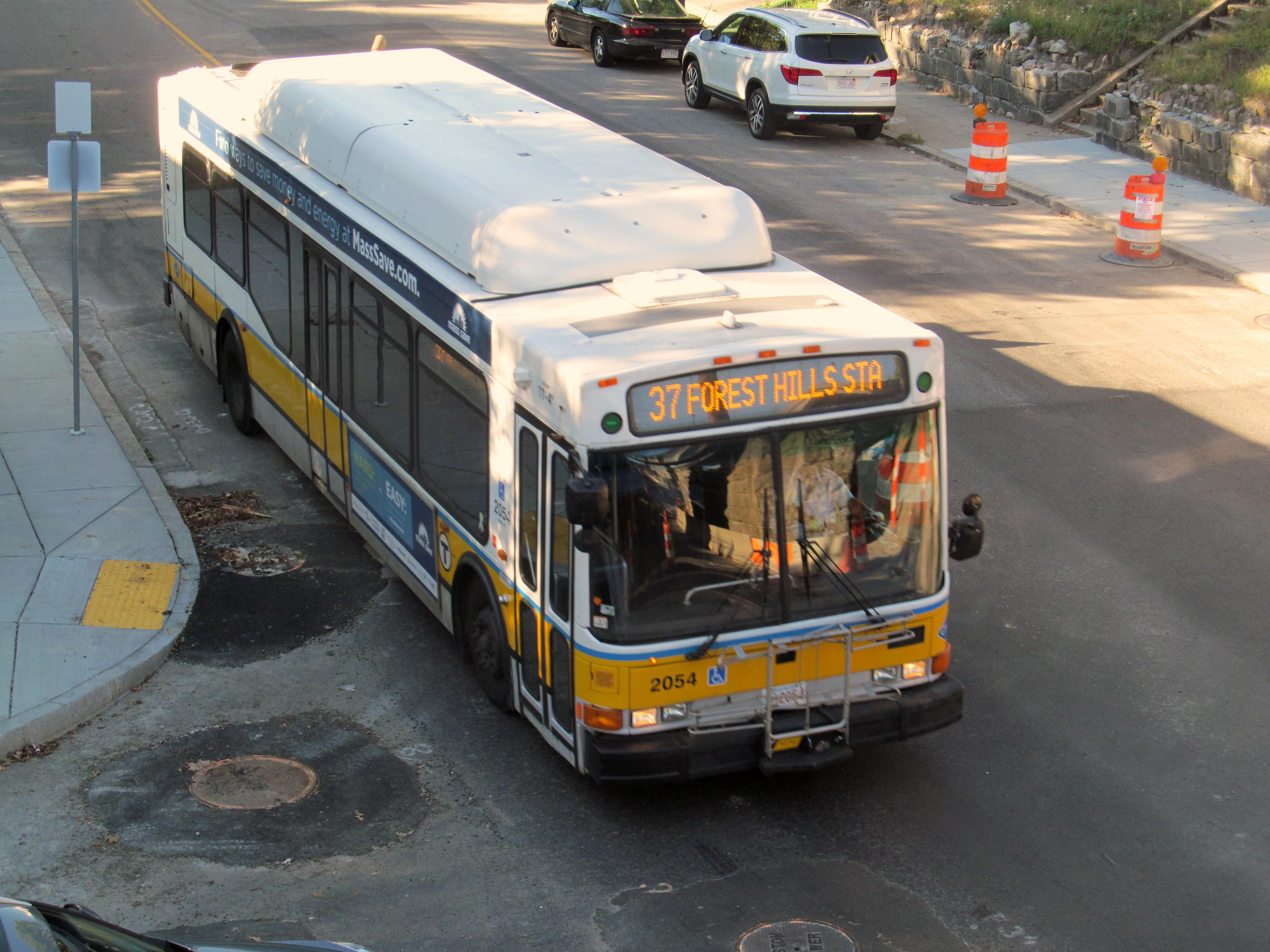 File Mbta Route 37 Bus At West Roxbury Station September