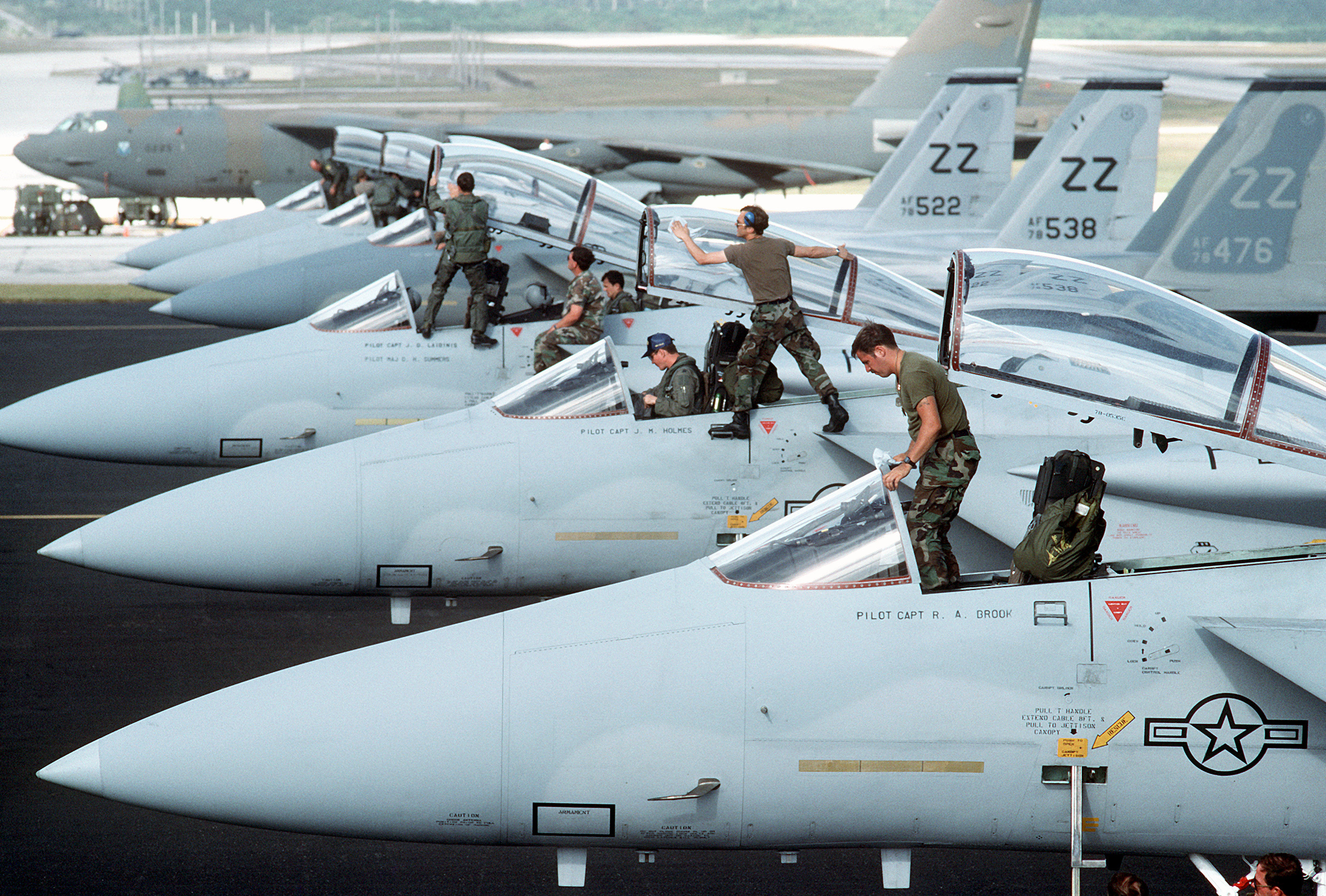 File:Maintenance personnel and flight crews from the 18th Tactical ...