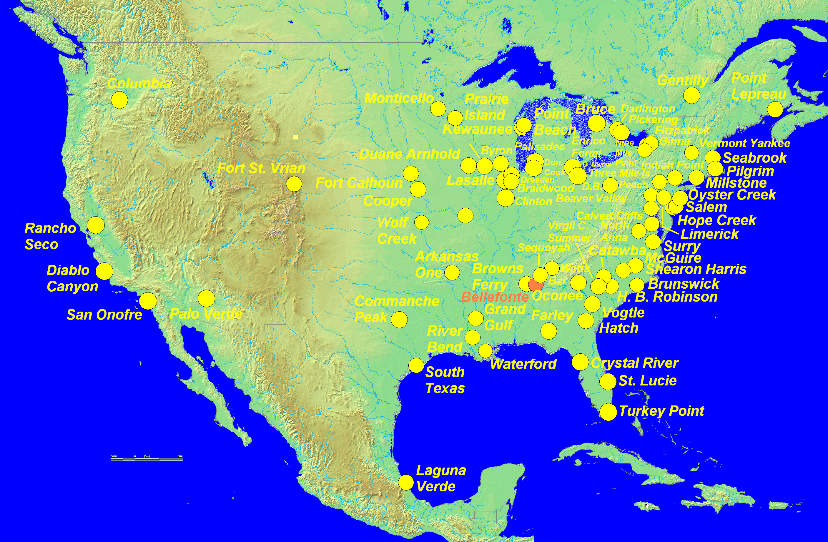 FileMap Of Nuclear Plants US Png Wikimedia Commons - Map nuclear power plants in us