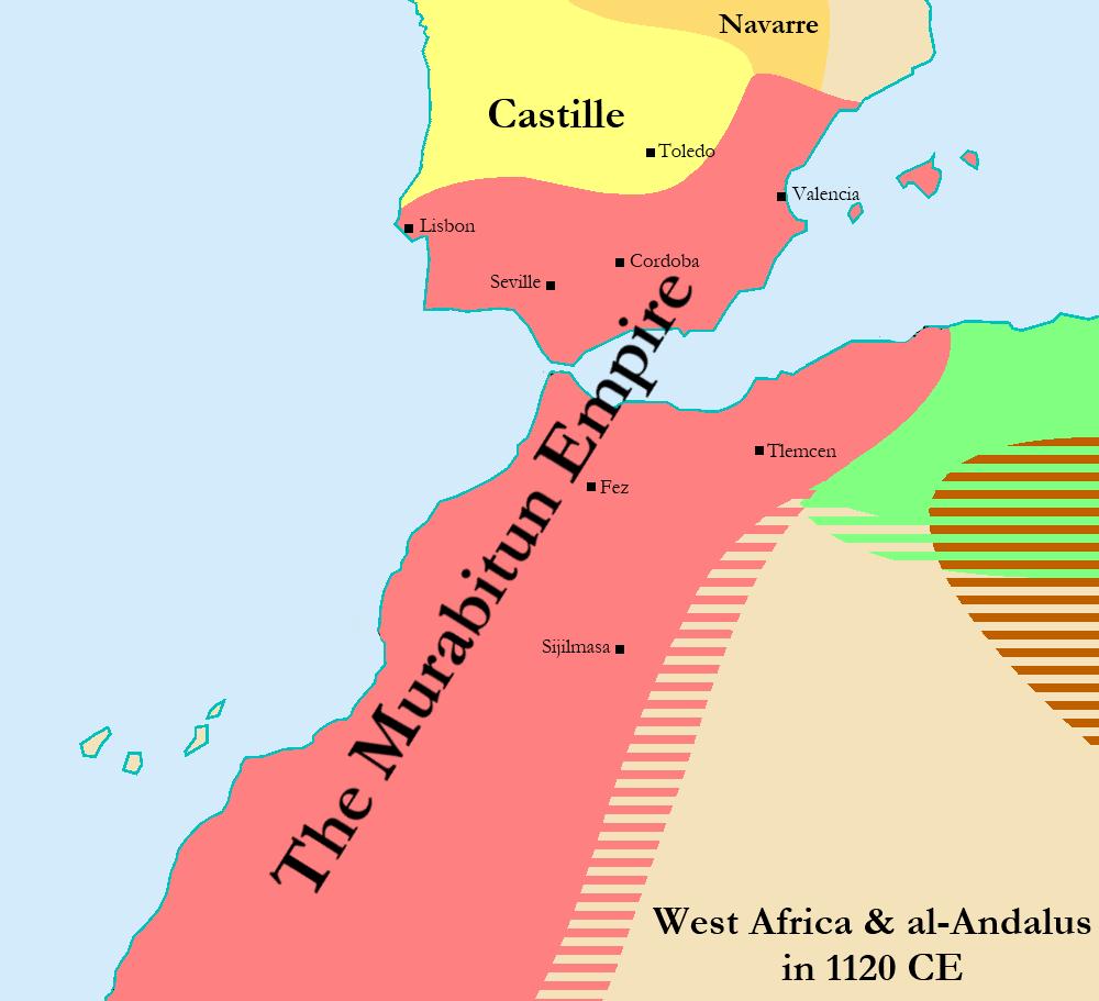 File:Map of the Murabitun (Almoravid) Empire in 1120.png - Wikipedia