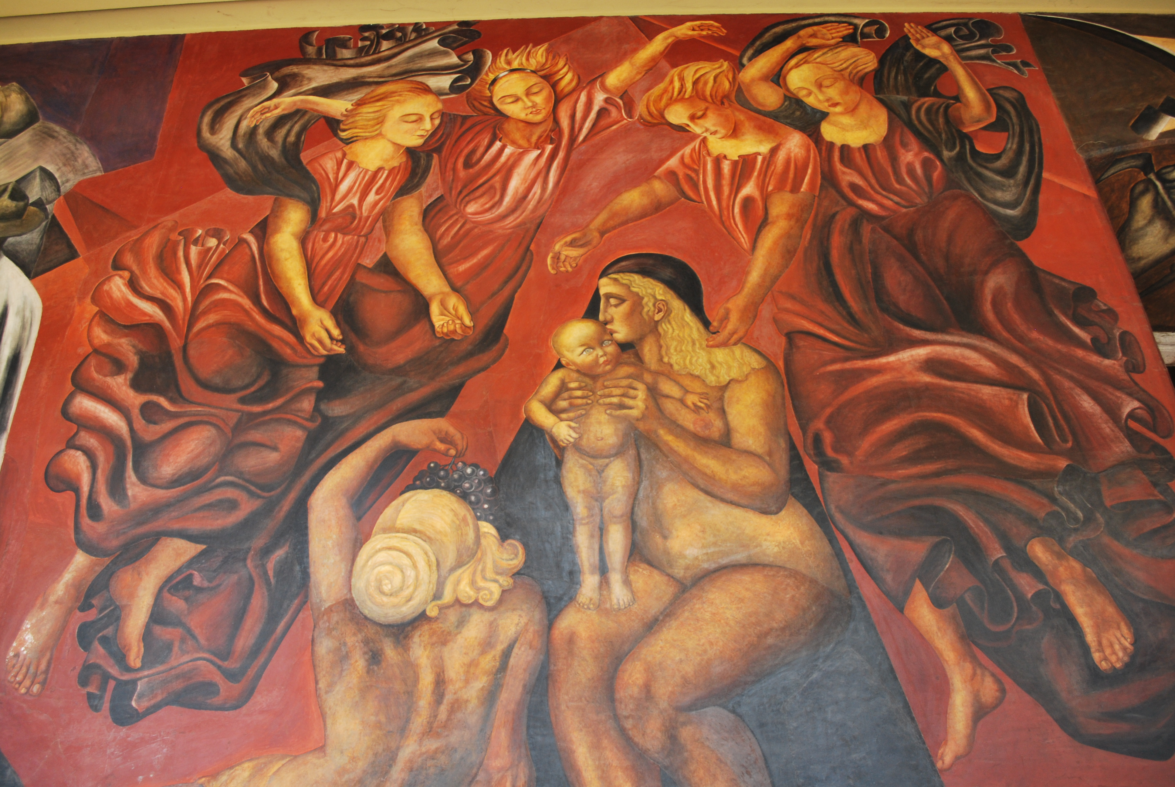 File maternidadorozcosicdf jpg wikimedia commons for Arte mural mexicano