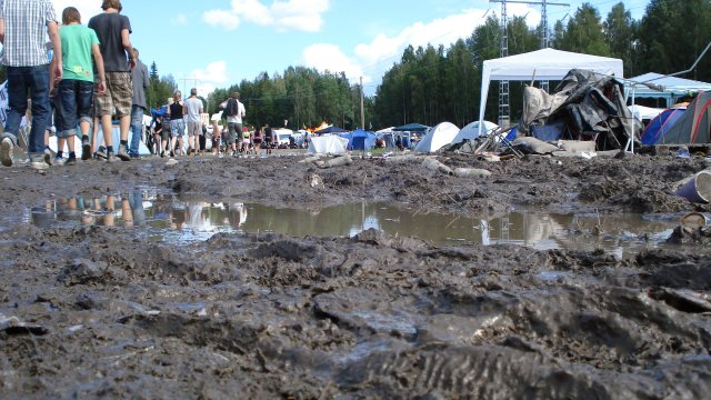 Mud at Arvikafestivalen