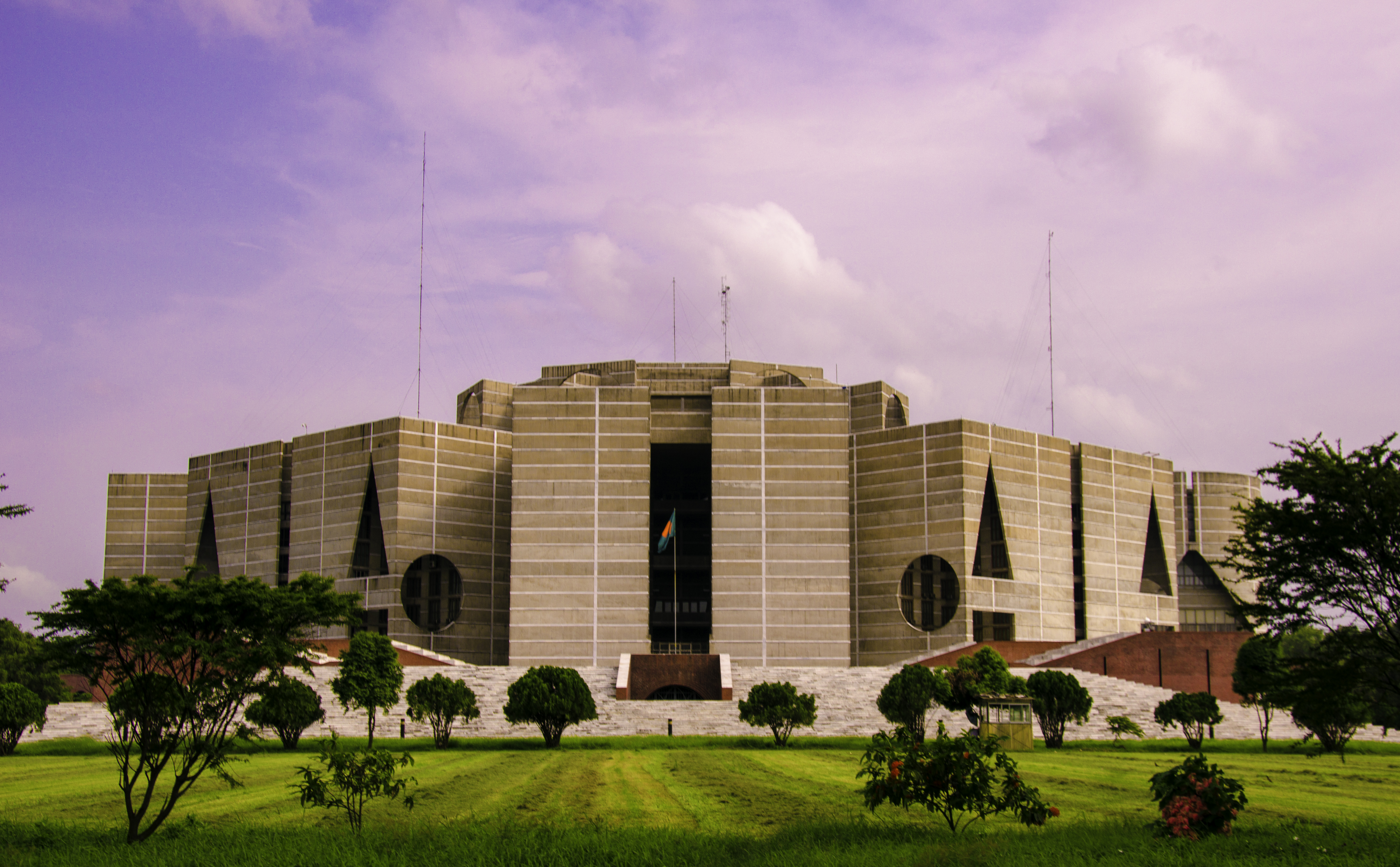 Dacca Parliament Building Plan Annotated
