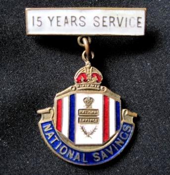Description national savings 15 years service badge jpg