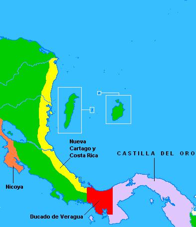 Nuevo cartago y costa rica province wikipedia for Cuarto viaje de colon