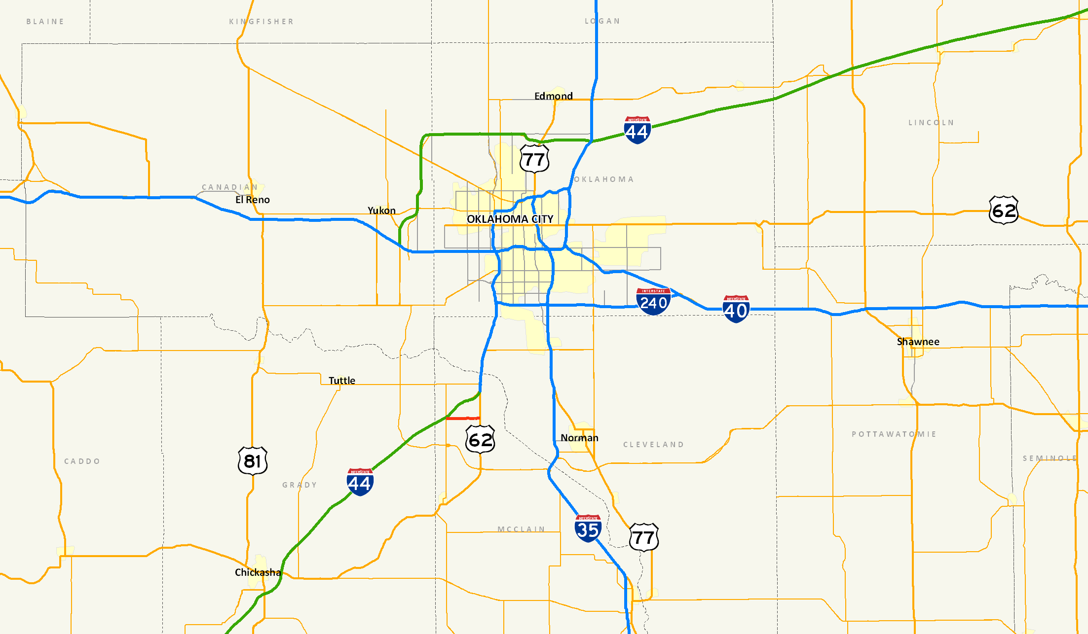 FileOklahoma State Highway 130 Mappng  Wikimedia Commons