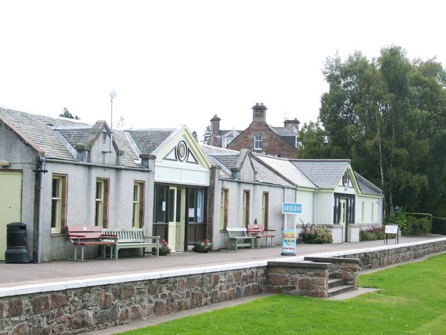 Old Railway Station at Aberlour - geograph.org.uk - 1493242