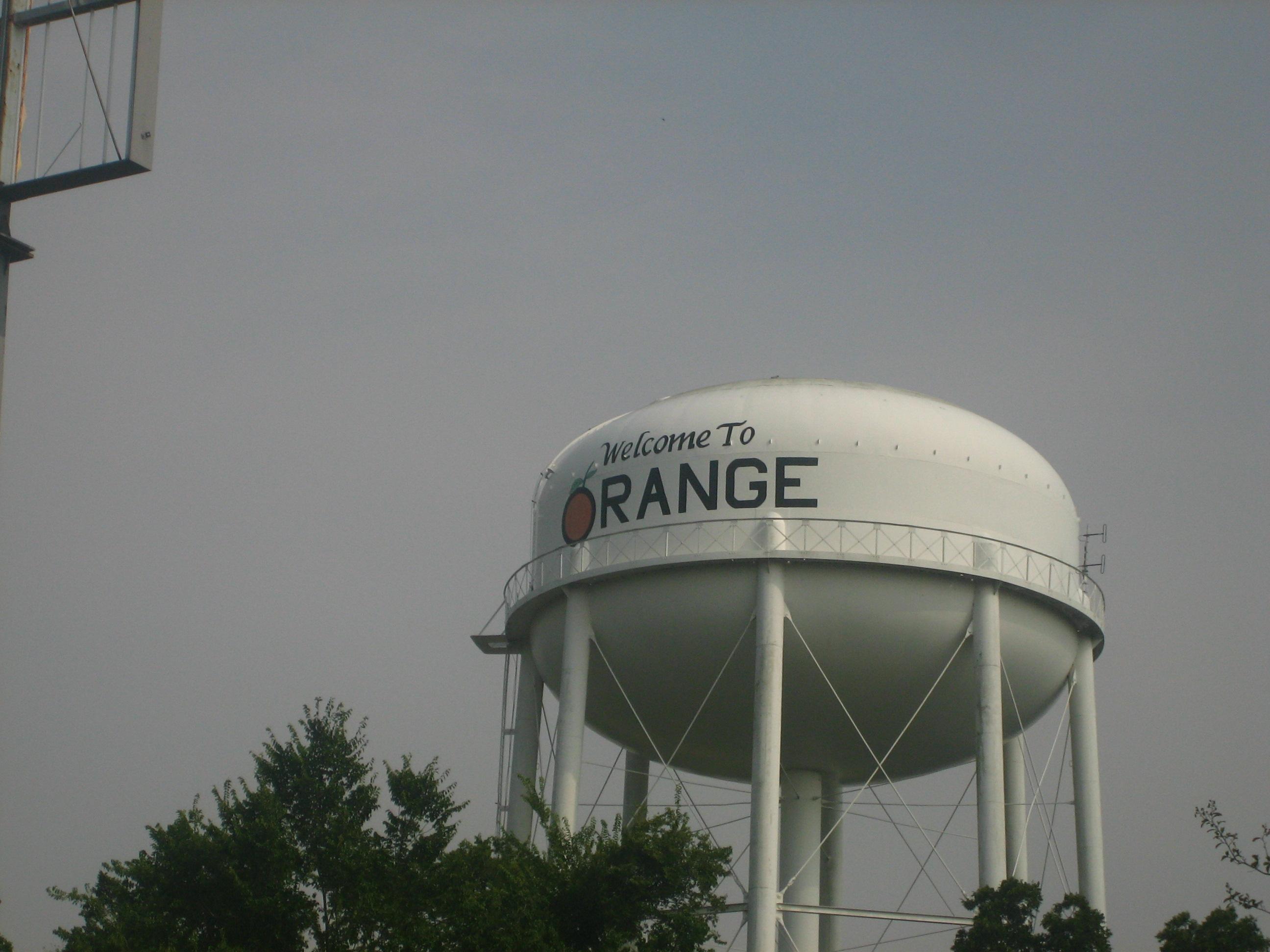 File Orange Texas Water Tower Jpg