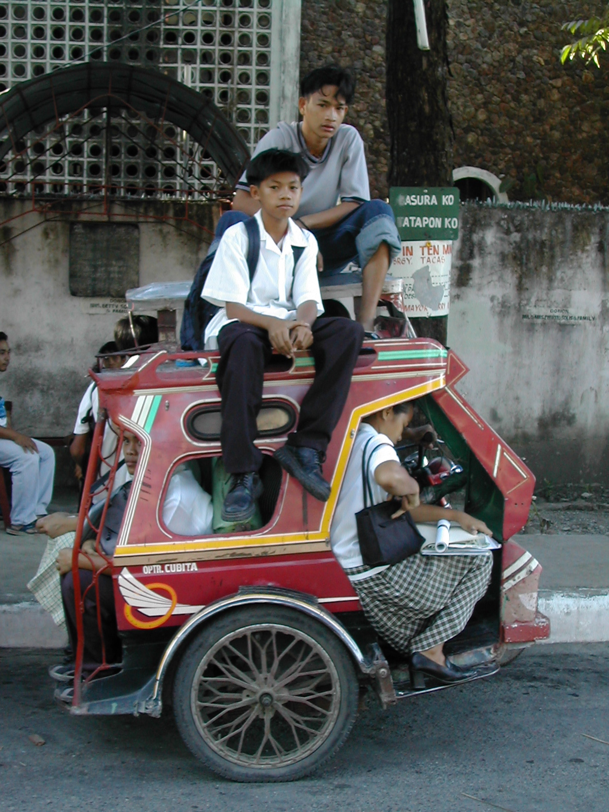 Overloaded school tricycle service