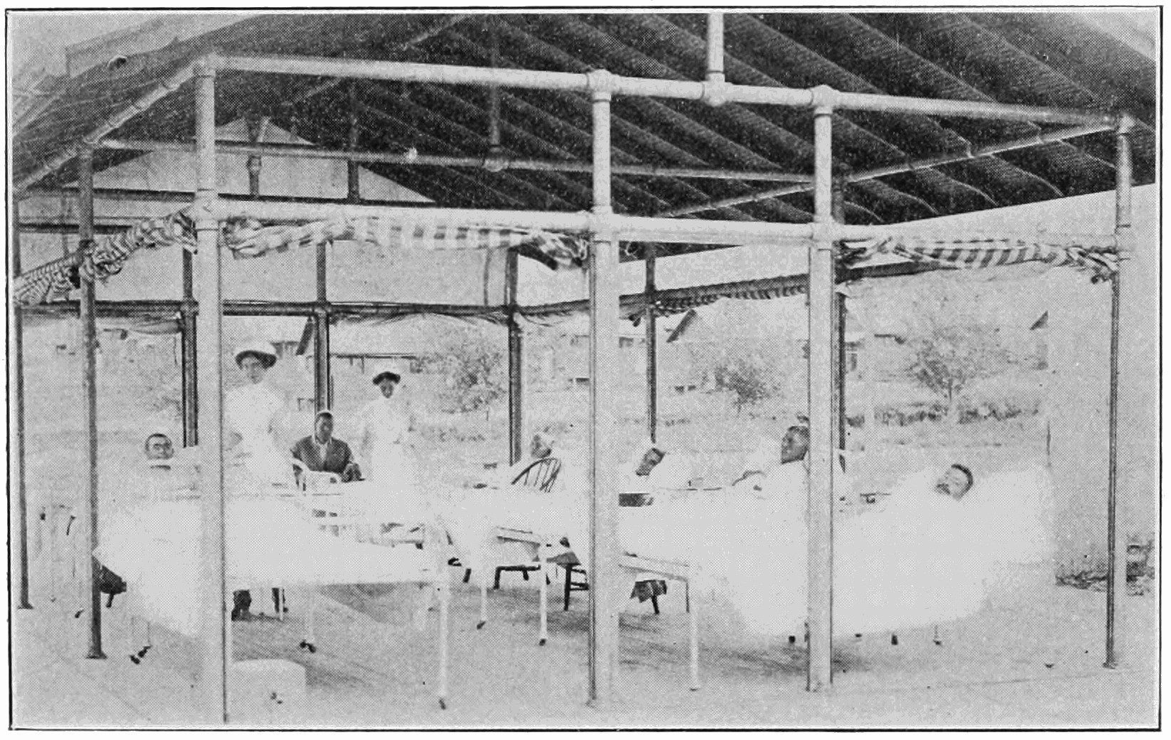PSM V82 D367 Bed shelter in the hospital annex at fort stanton.png