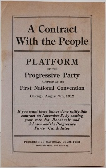Progressive Party Platform leaflet