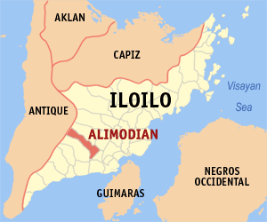 Mapa of Iloilo showing the location of Alimodian