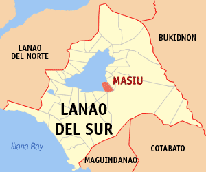 Map of Lanao del Sur showing the location of Masiu