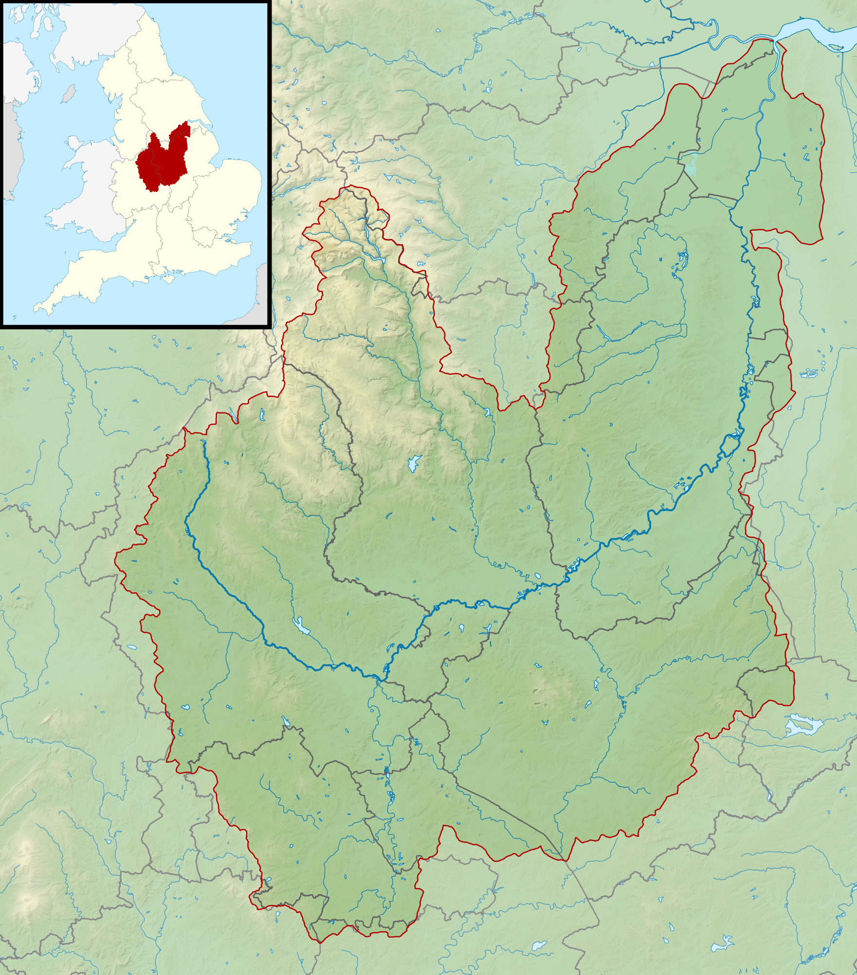 FileRiver Trent Mappng Wikimedia Commons - River trent map