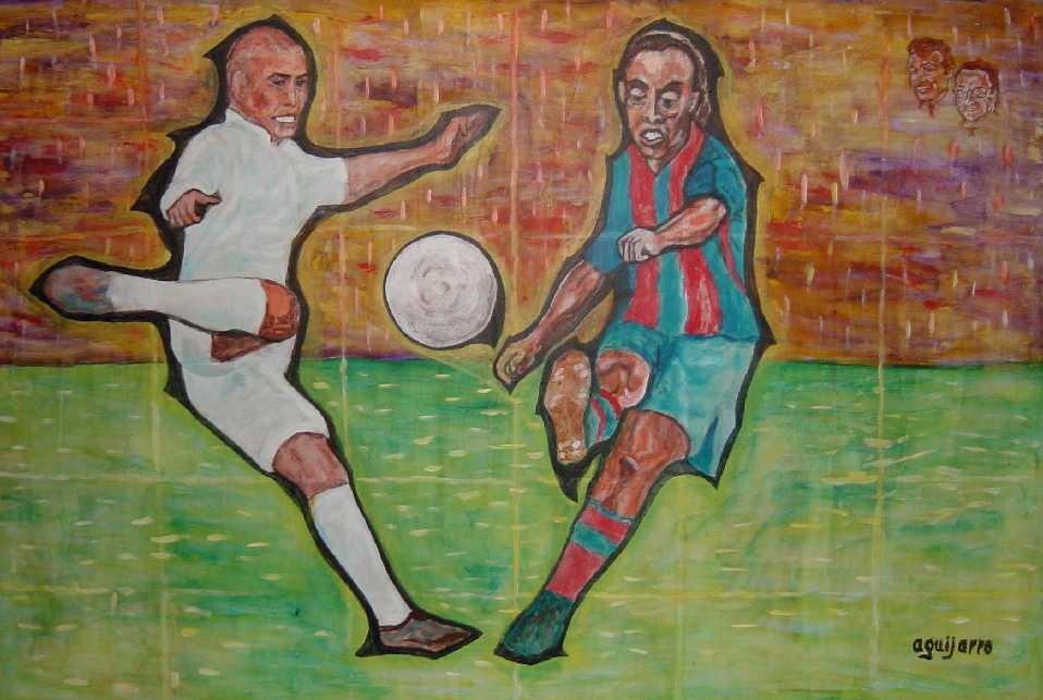 Ronaldo versus ronaldinho real madrid versus f c barcelona