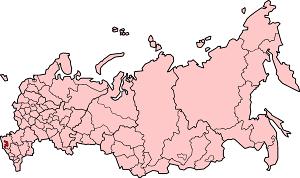 Республика Адыгея на карте России