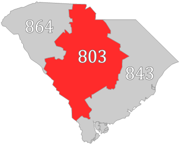 Rock Hill Sc Zip Code Map.Area Code 803 Wikipedia