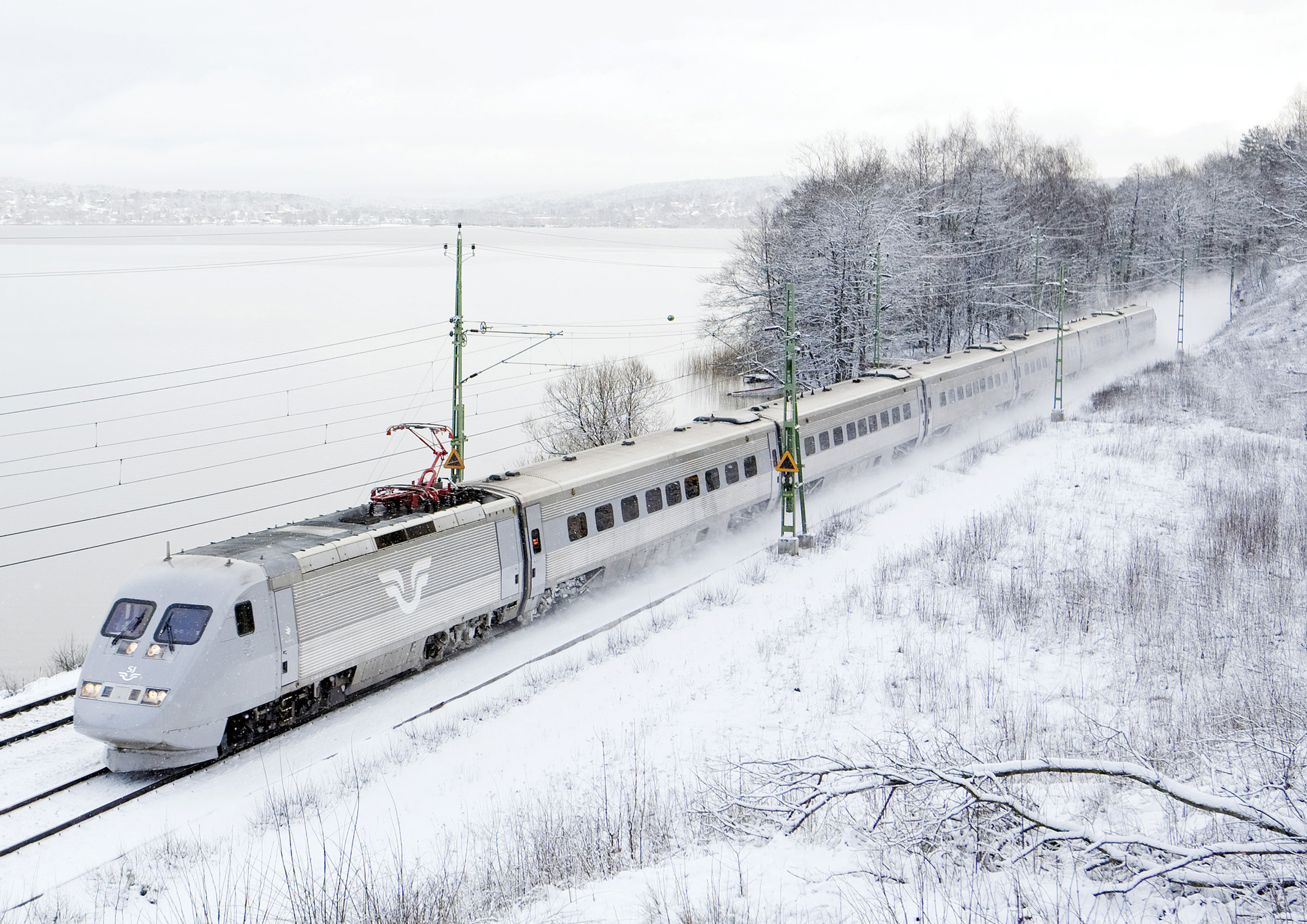 A sj class x2 train set in jonsered sweden with the for Aspen x2