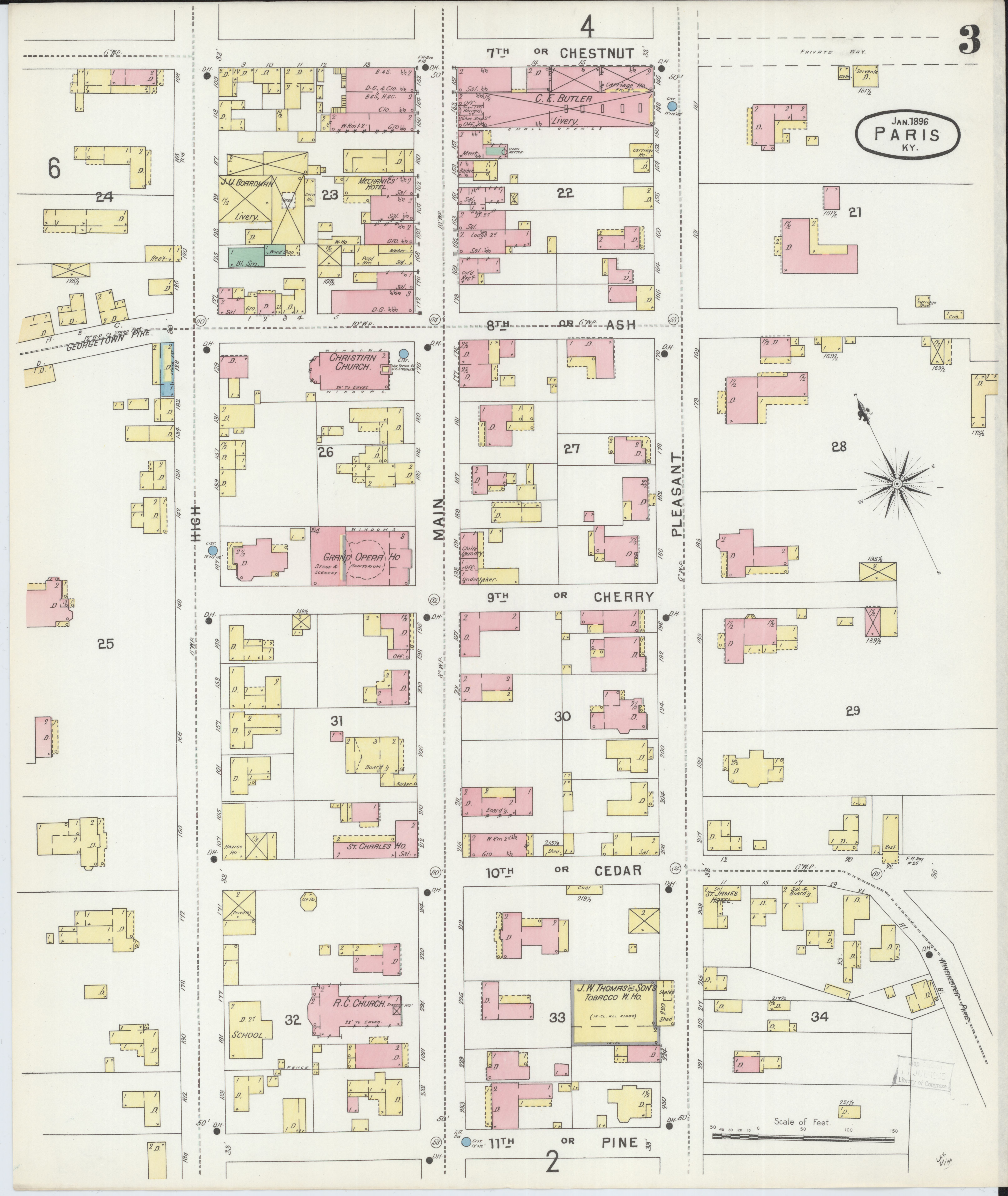 Picture of: File Sanborn Fire Insurance Map From Paris Bourbon County Kentucky Loc Sanborn03227 003 3 Jpg Wikimedia Commons