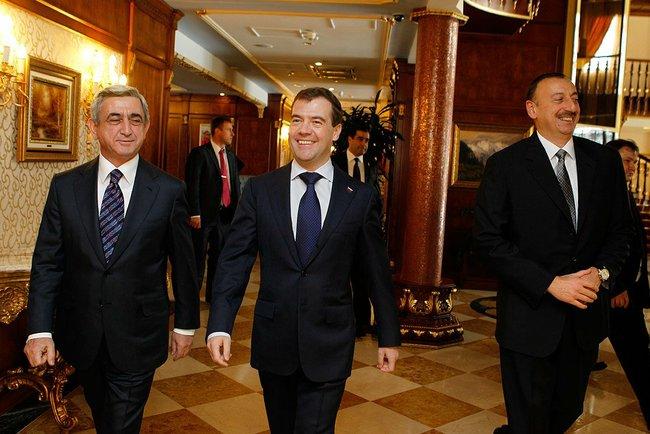 Sargsyan, Medvedev, Aliev