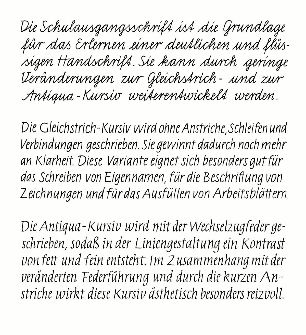 File:Schriftproben der Schulausgangsschrift und ihren Varianten.png ...