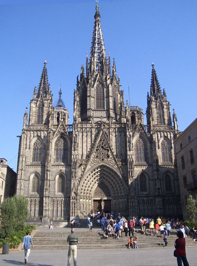 View of Cathedral of Barcelona