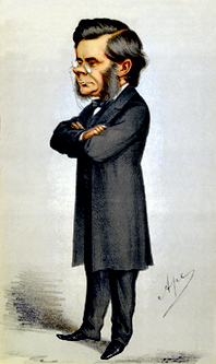 chromolithograph Caricature of Thomas Henry Hu...