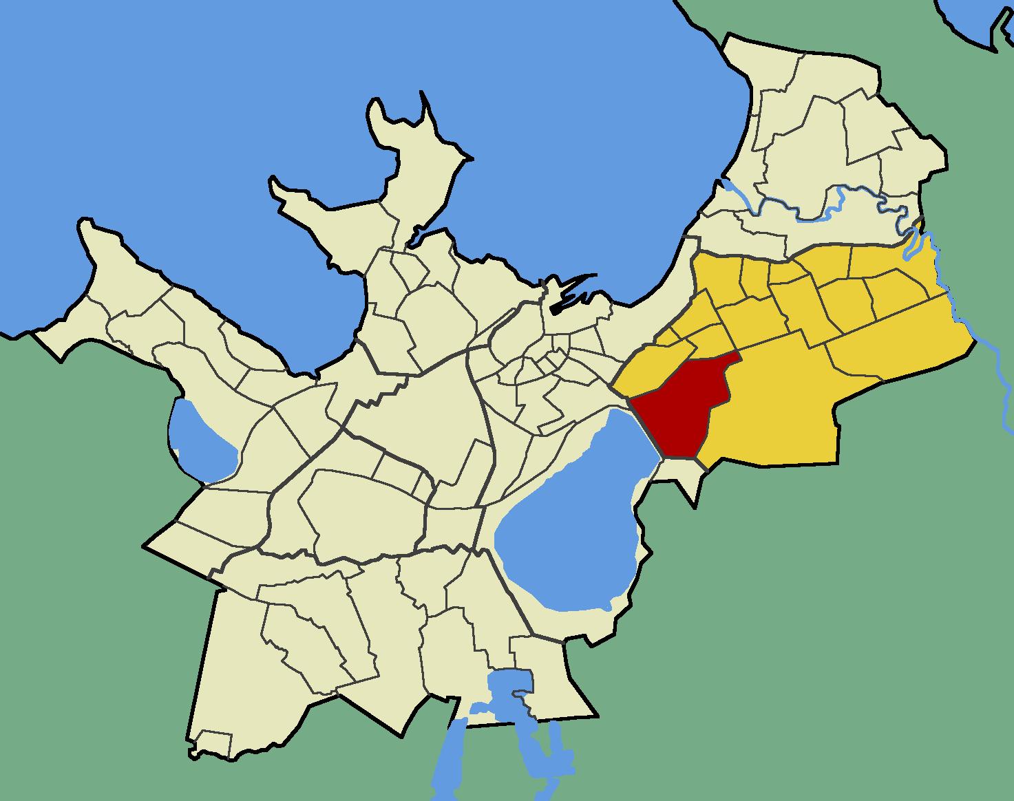 Ülemiste Tallinna kartta