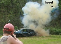English: Effects of a half pound of Tannerite ...