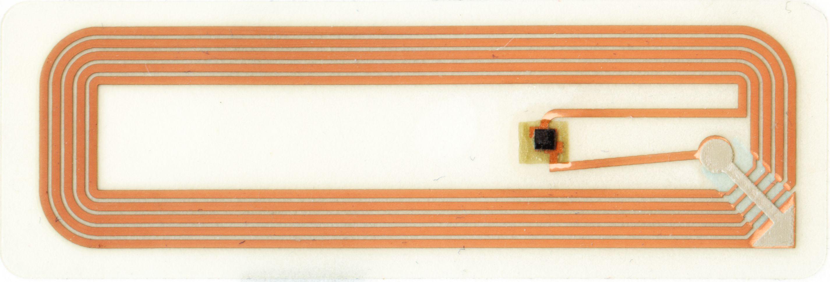 Quelle:wikipedia; 13,56 MHz Transponder; technische Sicht auf das Smartlabel