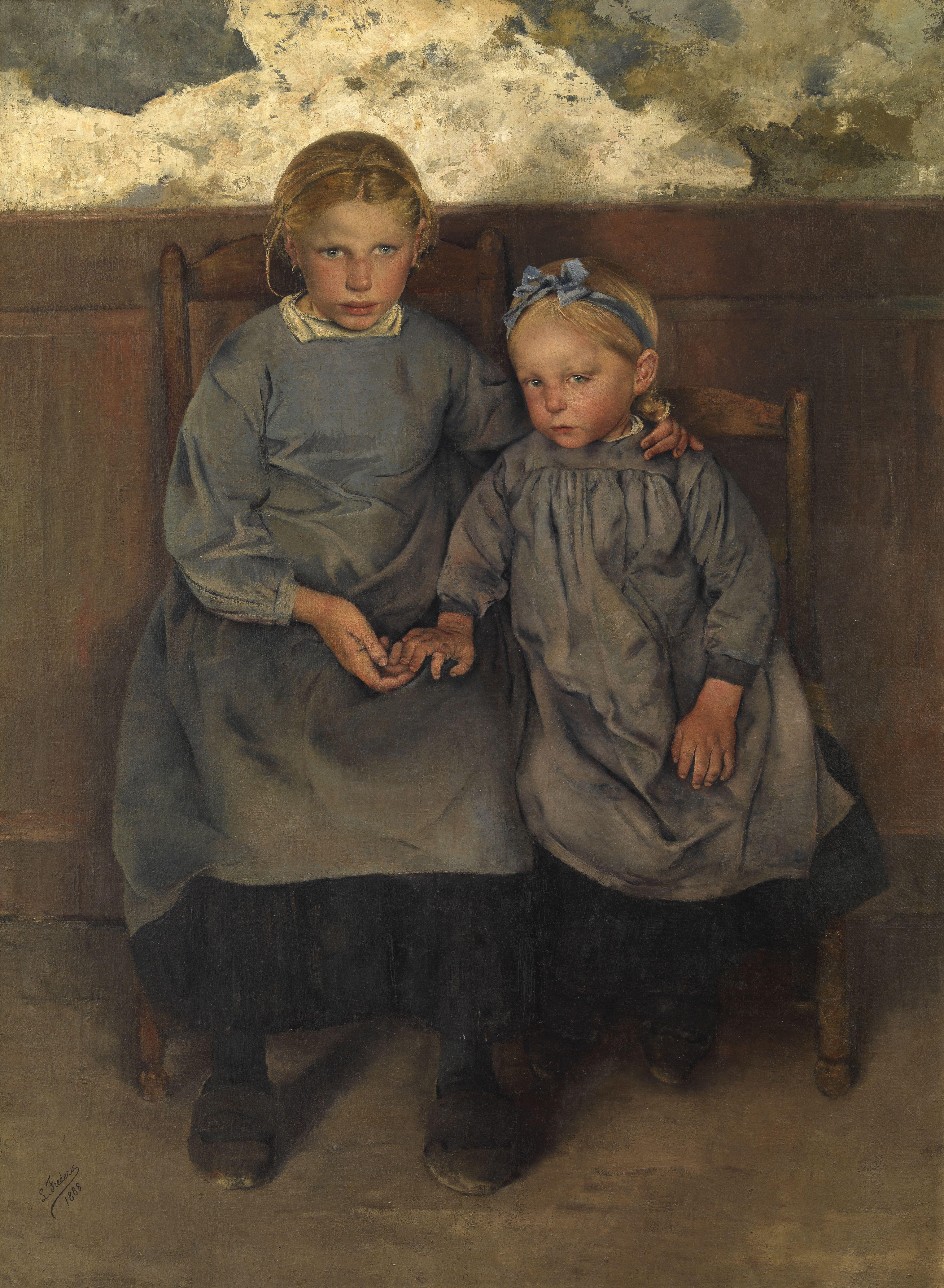 Léon Frédéric - Twee Waalse boerenkinderen (1888)