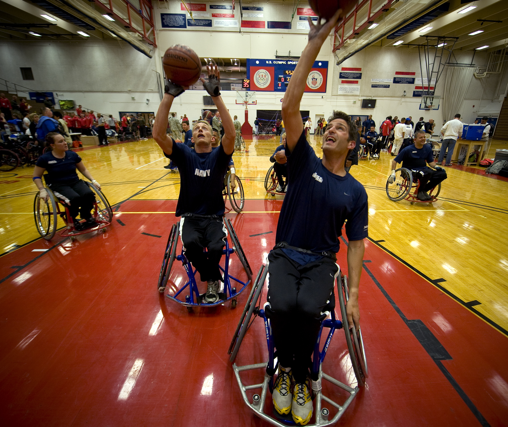 File:US Navy 100511-N-6932B-495 Navy team members warm up for a