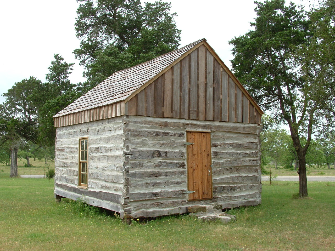 file wendish pioneer log cabin in serbin texas jpg wikimedia commons. Black Bedroom Furniture Sets. Home Design Ideas