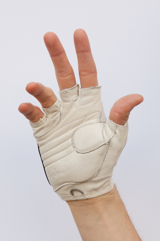 File:White leather fingerless cycling glove cropped.jpg - Wikimedia Commons