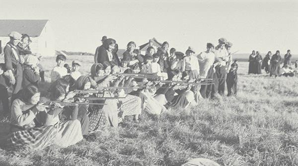 File:Women s target shooting - Dene - Great Slave Lake NWT c1940.jpg