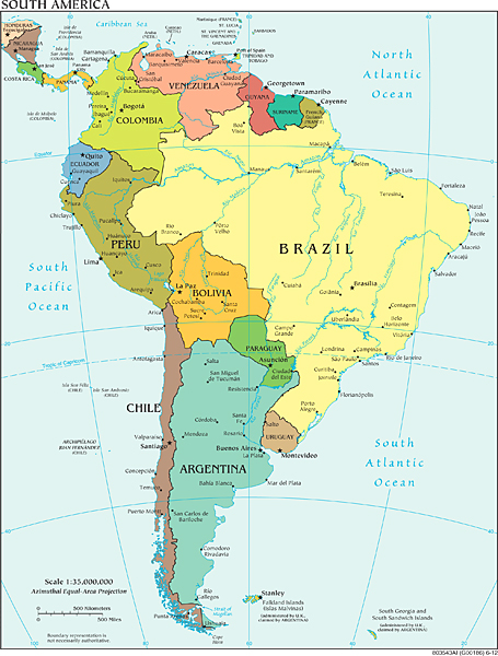 Latin america needs to remember its new middle classes future political map of south america cia world fact book via wikimedia commons gumiabroncs Image collections