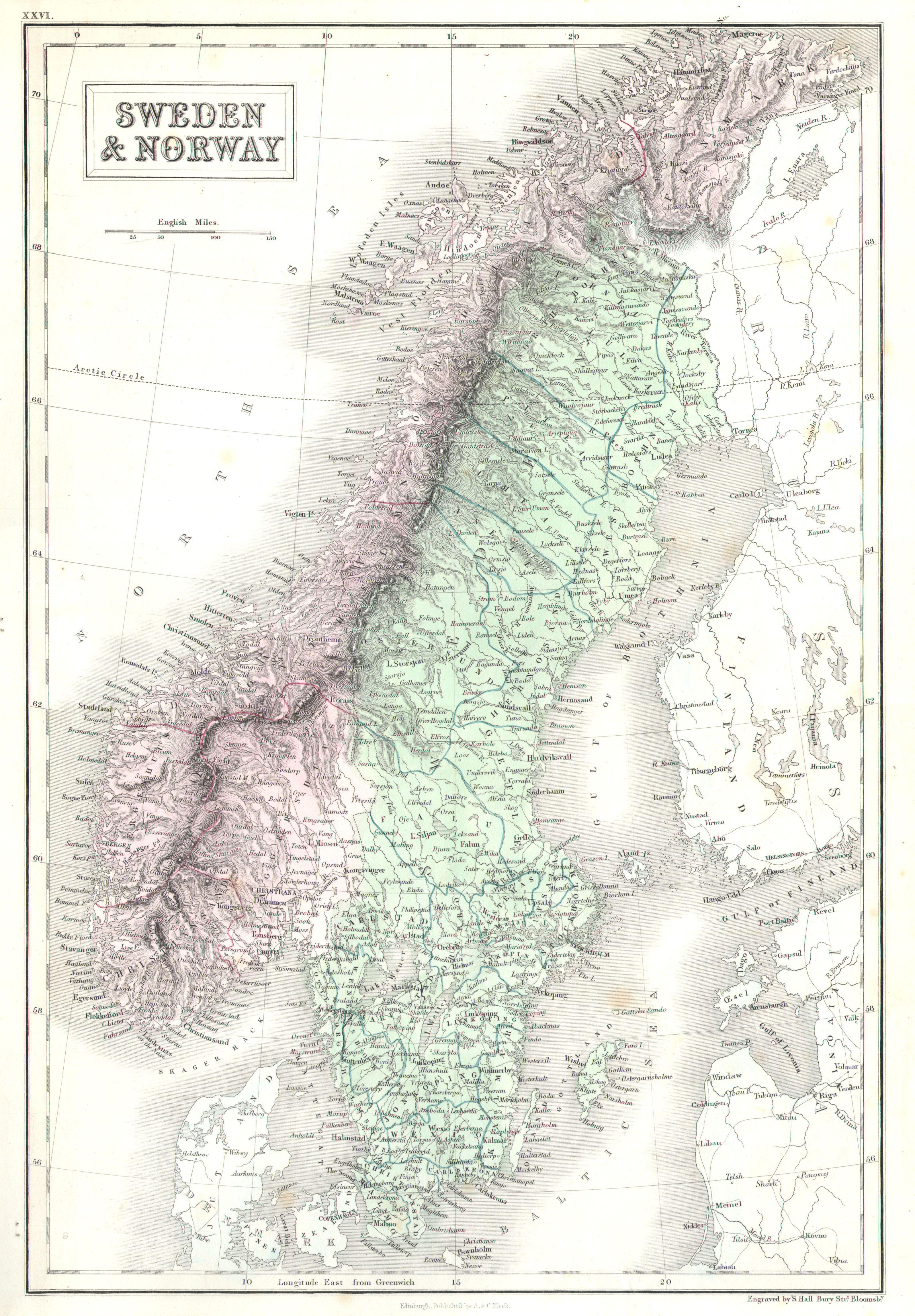 File Black Map Of Norway And Sweden Scandinavia - Sweden map jpg
