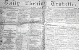 <i>Boston Evening Traveller</i> newspaper in Boston, Massachusetts
