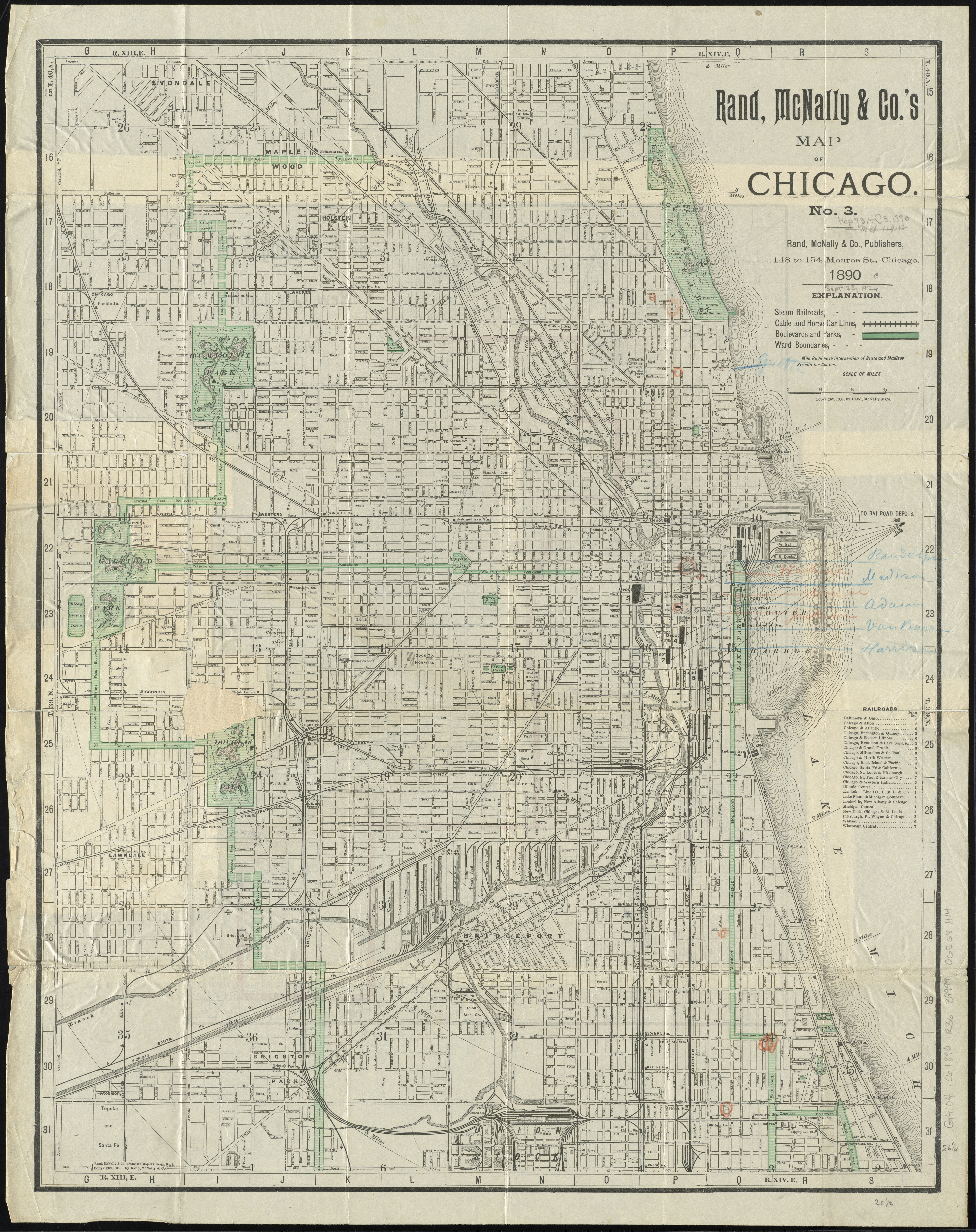 Chicago Map 1890 File:1890 Chicago map by Rand McNally.   Wikimedia Commons
