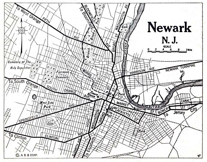 File1920 Map Newark New Jersey Automobile Blue Bookjpg