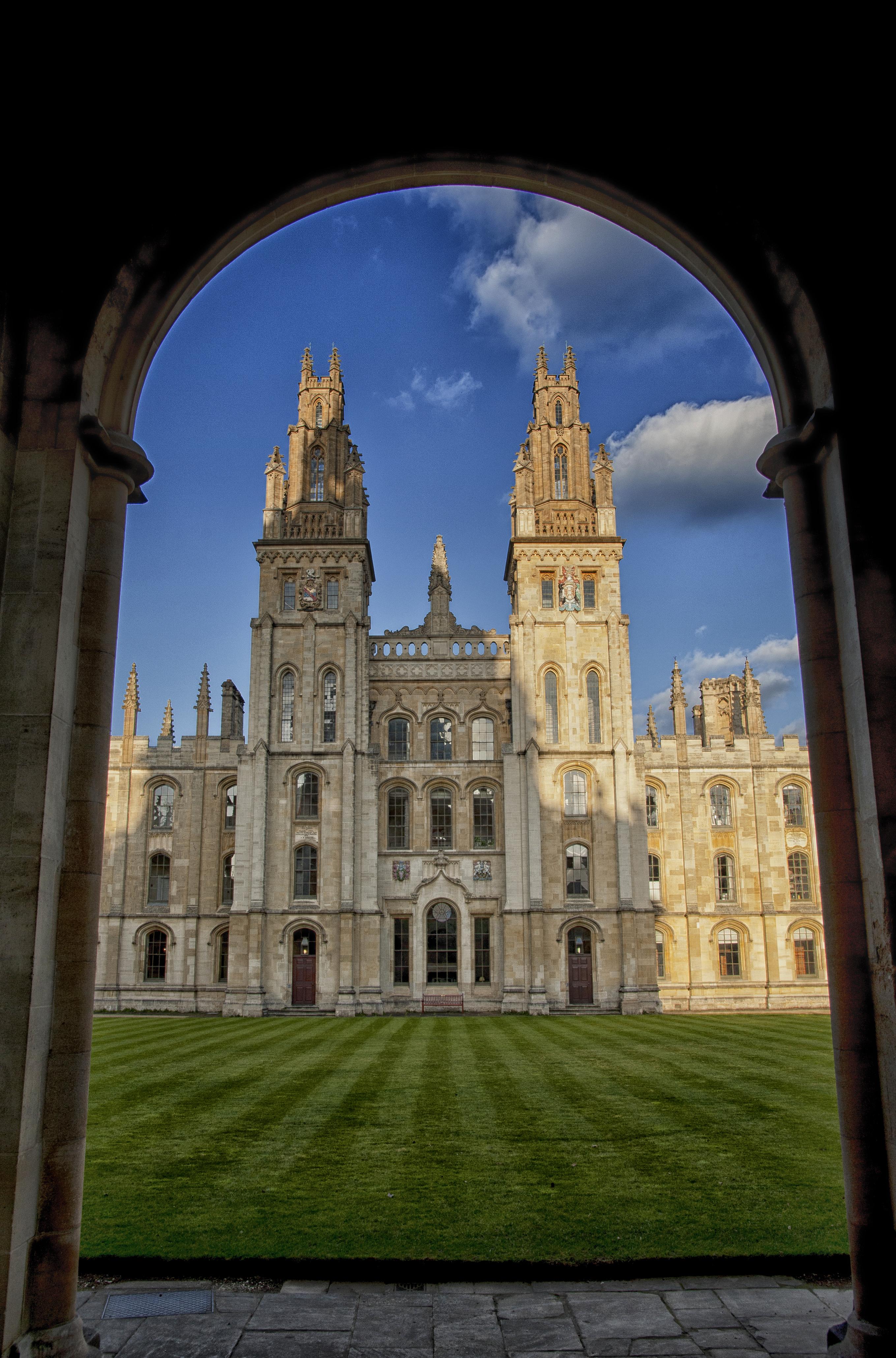 University Of Oxford: College University: All Souls College University Of Oxford