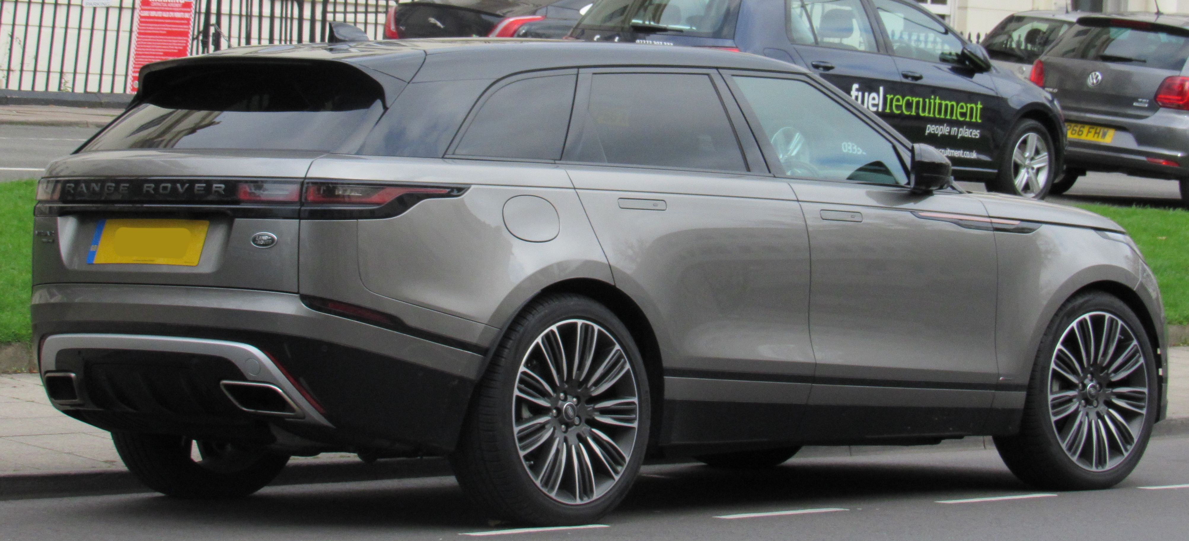 New Range Rover >> File:2017 Land Rover Range Rover Velar First Edition D3 3.0 Rear.jpg - Wikipedia