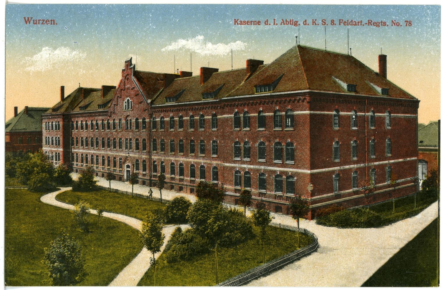 File:20414-Wurzen-1917-Kaserne der 1. Abteilung des 8.