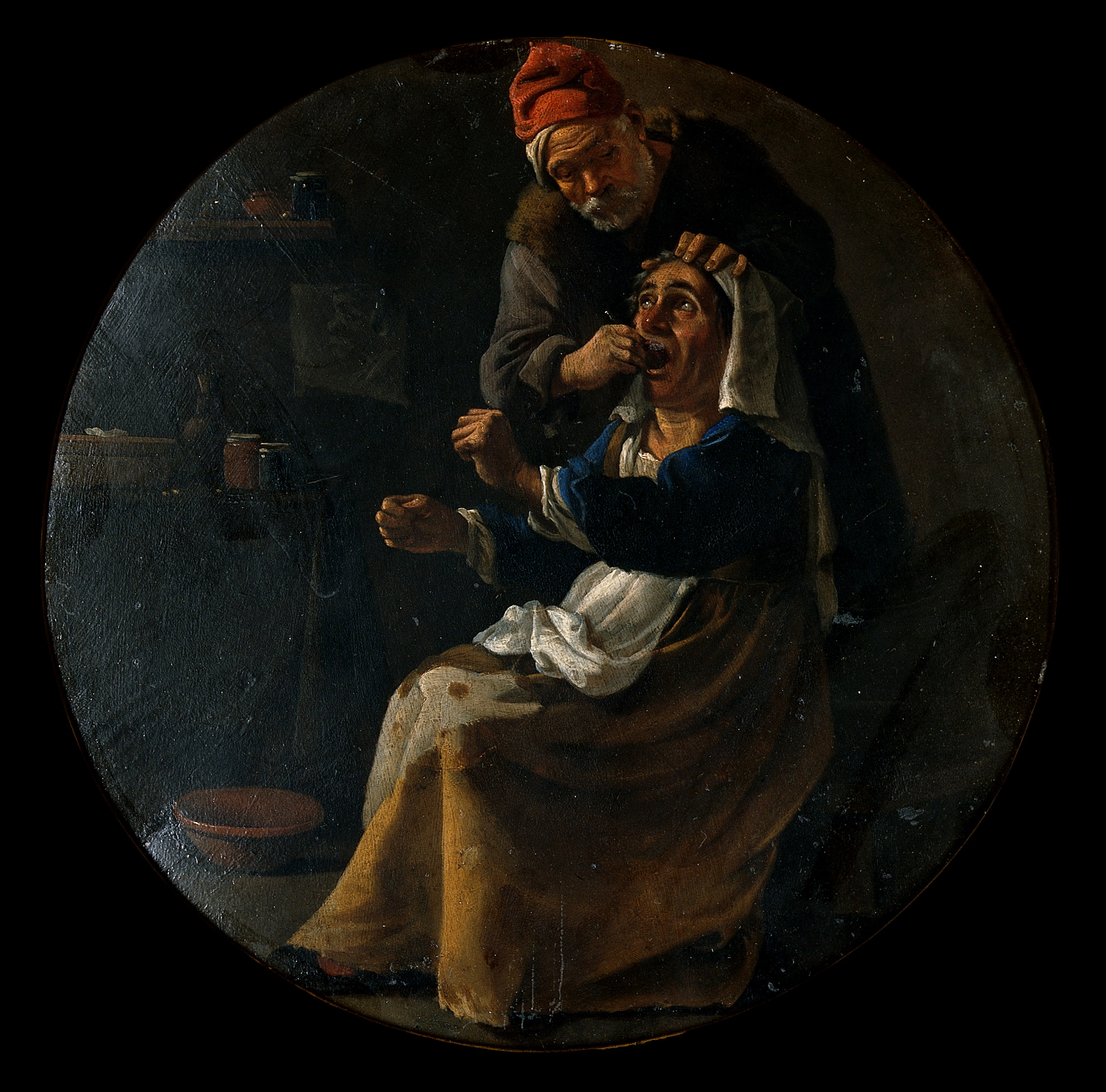 File:A man extracting a tooth  Oil painting by Pieter van
