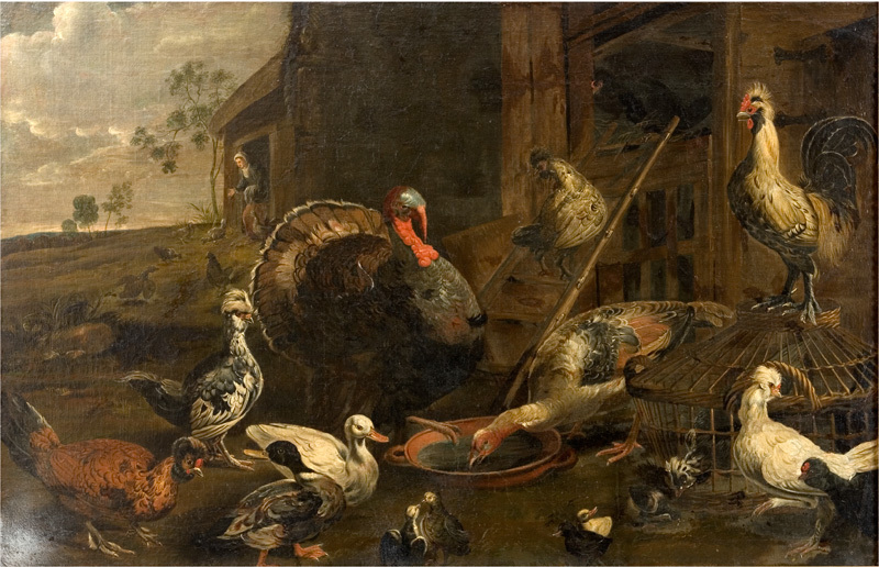 File:Adriaen van Utrecht - Hens, Ducks and a Turkey Cock - KMSst556 - Statens Museum for Kunst.jpg