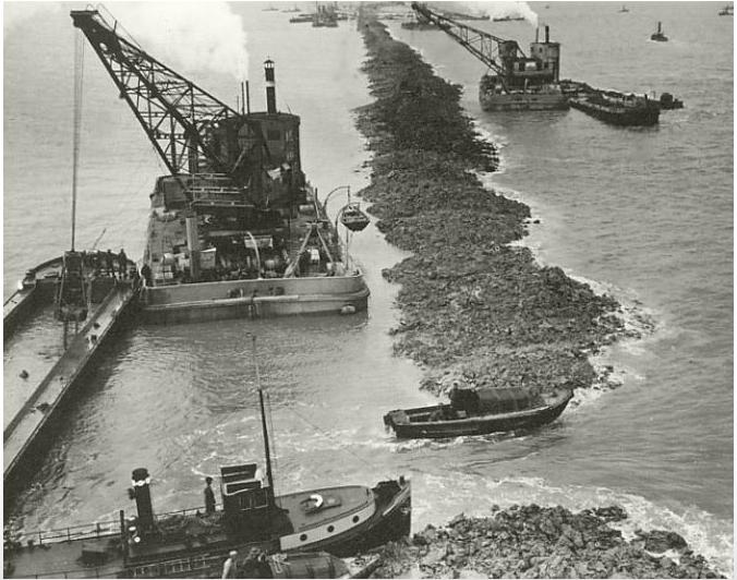 Construction of the Afsluitdijk